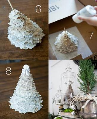 paper tree, crafting, craft, christmas, gift