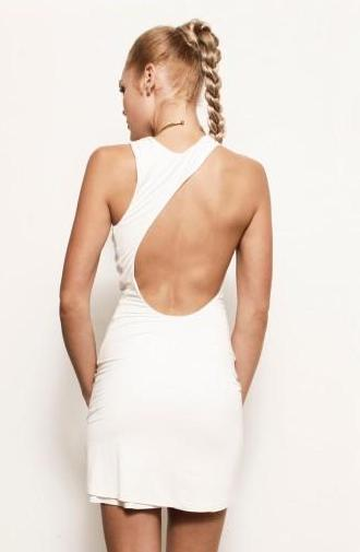 Backless Strapless White