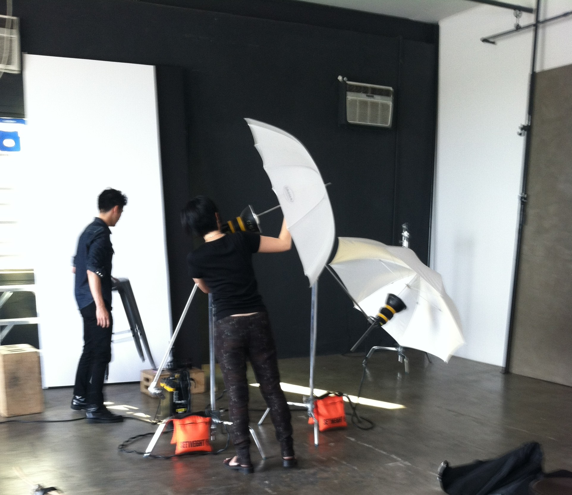 Our photographers set up for the shoot