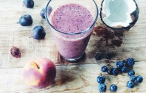 Peach Fig Coconut Berry Smoothie